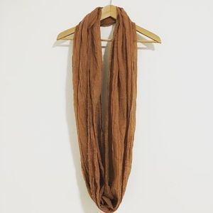 Brown Fall Infinity Scarf